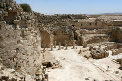 Ruins At Herodian National Park. Ancient ruins at the mountian palace fortress of Herodian National Park, Israel. This was the summer palace of Herod the Great royalty free stock images