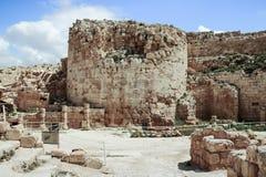 Ruins of Herodium Herodion Fortress of Herod the Great,  Judaean Desert near to Jerusalem, Israel. Ruins of Herodium Herodion Fortress of Herod the Great Royalty Free Stock Image