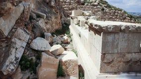 Ruins of Herodium Herodion Fortress of Herod the Great,  Judaean Desert near to Jerusalem, Israel. Ruins of Herodium Herodion Fortress of Herod the Great Stock Photography
