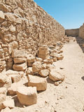 Ruins of Herods castle in fortress Masada, Israel Royalty Free Stock Photography