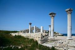 Ruins of Hersones. Ruins of ancient city Hersones in Crimea, Ukraine Stock Photo