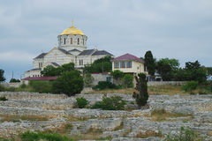 Ruins of Hersones, ancient greece settlement on Crimea Stock Image