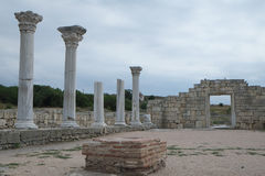 Ruins of Hersones, ancient greece settlement on Crimea Stock Photo