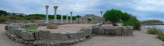 Ruins of Hersones, ancient greece settlement on Crimea Stock Photography