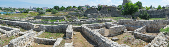 Ruins of Hersones, ancient greece settlement on Crimea Royalty Free Stock Photos