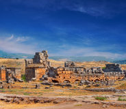 Ruins of Hierapolis Stock Image