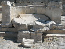 The Ruins Of Hierapolis Royalty Free Stock Photography