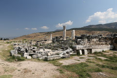 Ruins in Hierapolis Ancient City, Turkey Royalty Free Stock Photos