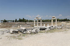 Ruins in Hierapolis Ancient City, Turkey Royalty Free Stock Photography