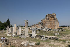 Ruins in Hierapolis Ancient City, Turkey Royalty Free Stock Images