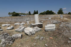 Ruins in Hierapolis Ancient City, Turkey Stock Image