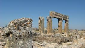 Ruins of Hierapolis in Denizli, Turkey Royalty Free Stock Images