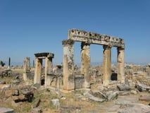 Ruins of Hierapolis in Denizli, Turkey Royalty Free Stock Photography