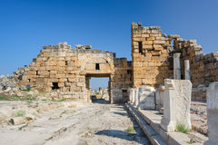 Ruins of Hierapolis, now Pamukkale Royalty Free Stock Photography