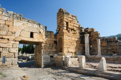 Ruins of Hierapolis, now Pamukkale Royalty Free Stock Photos