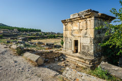 Ruins of Hierapolis, now Pamukkale Stock Image