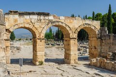 Ruins of Hierapolis, now Pamukkale Royalty Free Stock Photo
