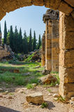 Ruins of Hierapolis, now Pamukkale Royalty Free Stock Images
