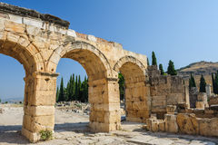 Ruins of Hierapolis, now Pamukkale Stock Photos
