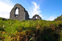 Ruins on the hill. The ruins of an old house on a hill Royalty Free Stock Photo