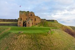 Ruins on hill of Medieval Tynemouth Priory and Castle, UK. Ruins on hill of Medieval Tynemouth Priory and Castle in the United Kingdom Royalty Free Stock Photos