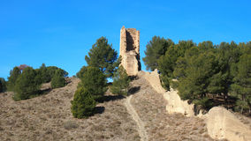 Ruins on hill Stock Photography
