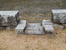 Ruins at Hiroshima Castle, Hiroshima, Japan Royalty Free Stock Photos