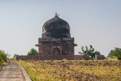 Ruins of Historic building Mandu Mandav stock photo