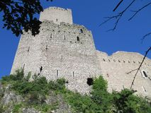 Castle Ruin Ortenbourg, Alsace, France royalty free stock photos