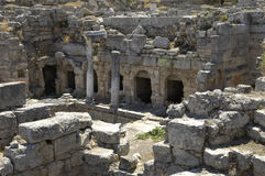 Ruins of historical ancient Corinth Royalty Free Stock Photography