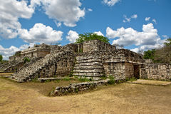Ancient Maya city of Ek Balam. Ruins of historical buldings ancient Maya city of Ek Balam royalty free stock photo