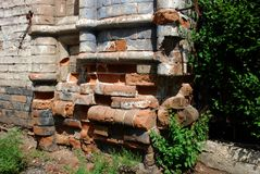 Ruins.Historical monument `house of the merchant of Vilner`.The City Of Minusinsk, Siberia. Royalty Free Stock Image