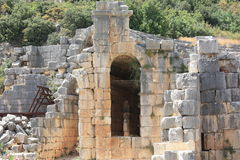 Ruins. Historical ruins in the mountains near Myra town. Turkey Royalty Free Stock Image