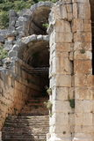 Ruins. Historical ruins in the mountains near Myra town. Turkey Royalty Free Stock Photography