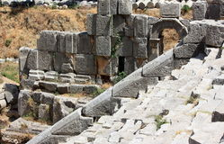 Ruins. Historical ruins in the mountains near Myra town. Turkey Stock Photography