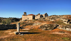 Ruins in historical village of Castelo Mendo stock photography