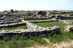 Ruins of Histria 2. Museum of Histria. Ancient Greek colony on the Black Sea. Antiques. Has existed for more than 2500 years royalty free stock photography