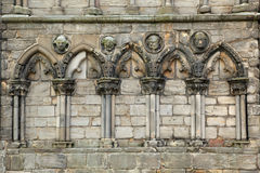 Ruins of Holyrood Abbey, Edinburgh Stock Image