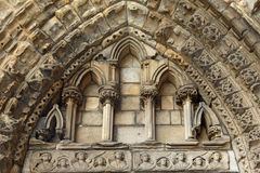 Ruins of Holyrood Abbey, Edinburgh Royalty Free Stock Photography