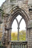 Ruins of the Holyrood Abbey Stock Photography