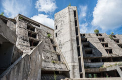 Ruins of hotel Stock Images
