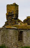 Ruins of a House and Chimney. Island of Stoma, Caithness, Scotland, U.K Stock Photos