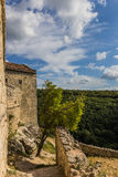 Ruins of a house in Chufut-Kale near Bakhchisaray Royalty Free Stock Image