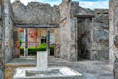 Ruins of a house in Pompeii, Italy Stock Photos