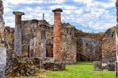 Ruins of a house in Pompeii, Italy Stock Photography