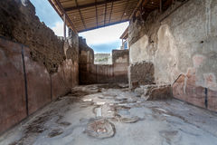 Ruins of a house in Pompeii. Royalty Free Stock Image