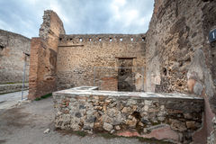 Ruins of a house in Pompeii. Stock Images