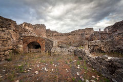 Ruins of a house in Pompeii. Stock Photo