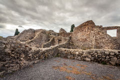 Ruins of a house in Pompeii. Stock Photos