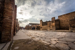 Ruins of a house in Pompeii. Royalty Free Stock Images